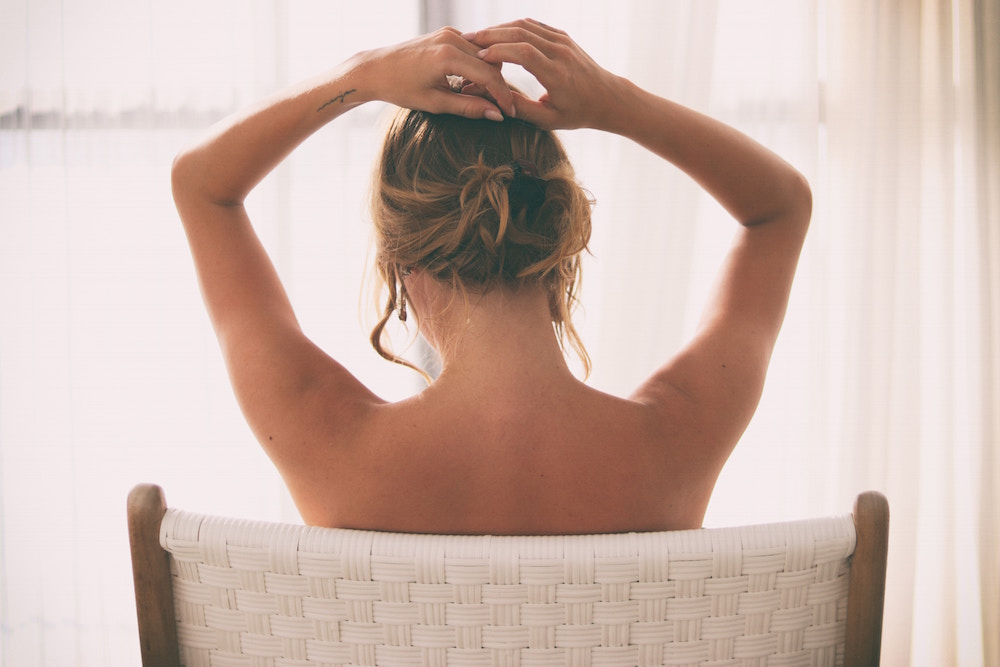 Naked back of woman